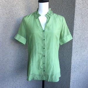 Banana Republic green blouse